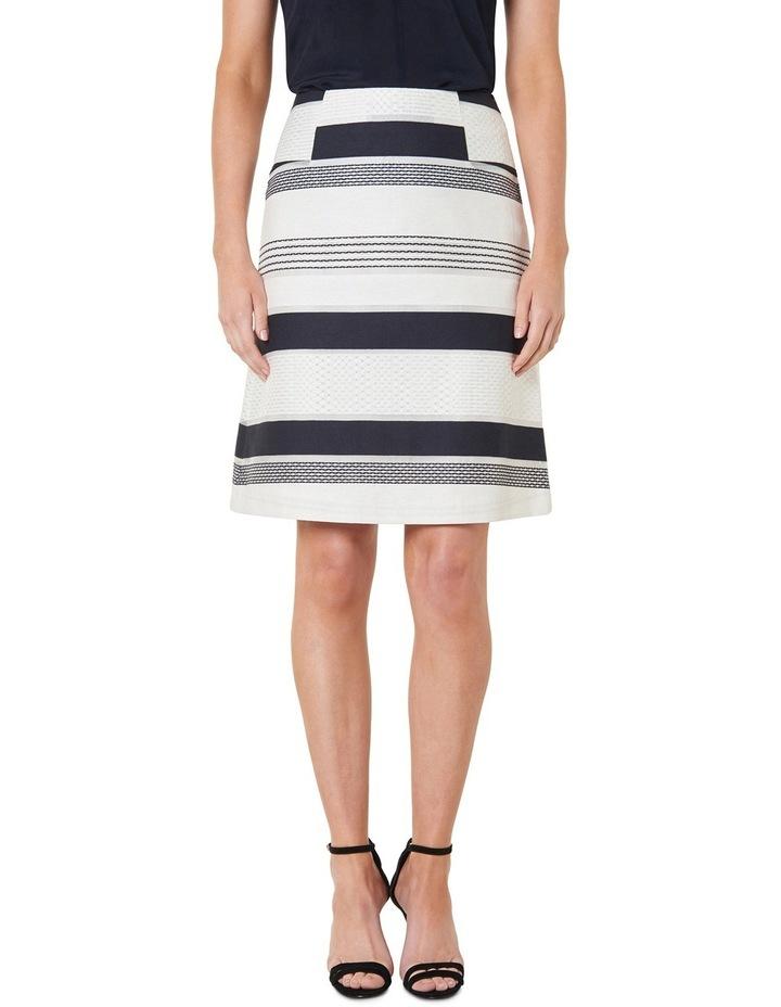 Stripe Jacquard A-Line Skirt image 1