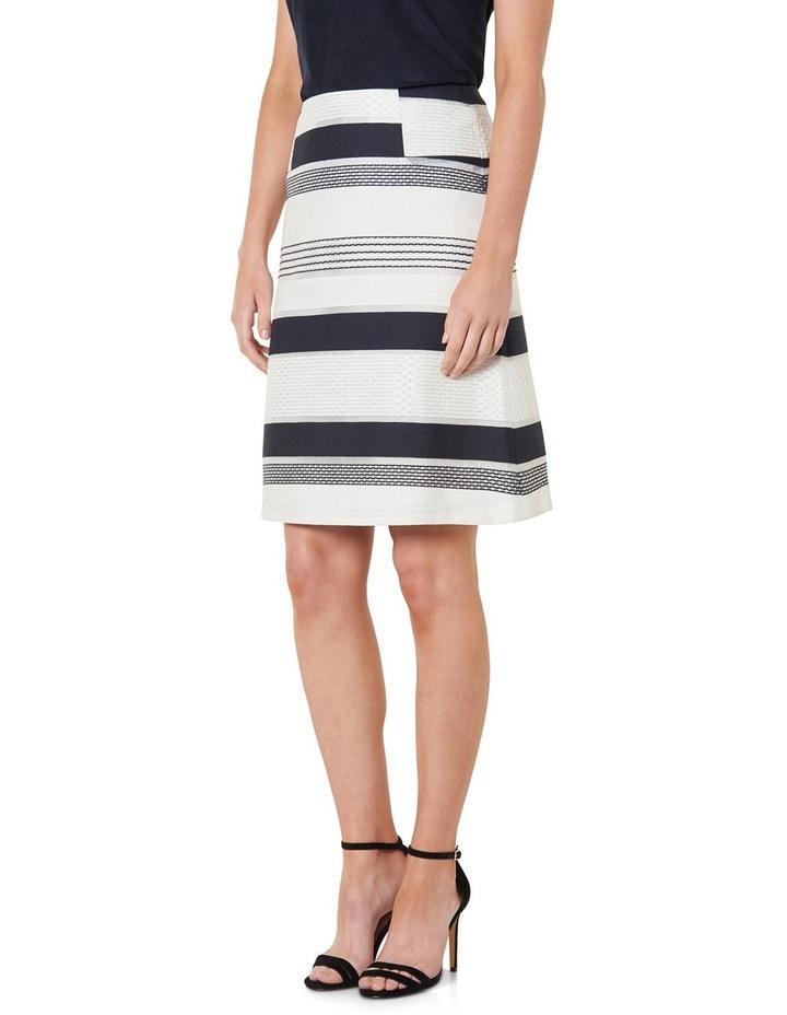 Stripe Jacquard A-Line Skirt image 2