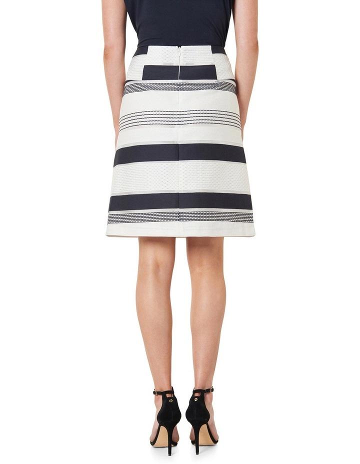 Stripe Jacquard A-Line Skirt image 3