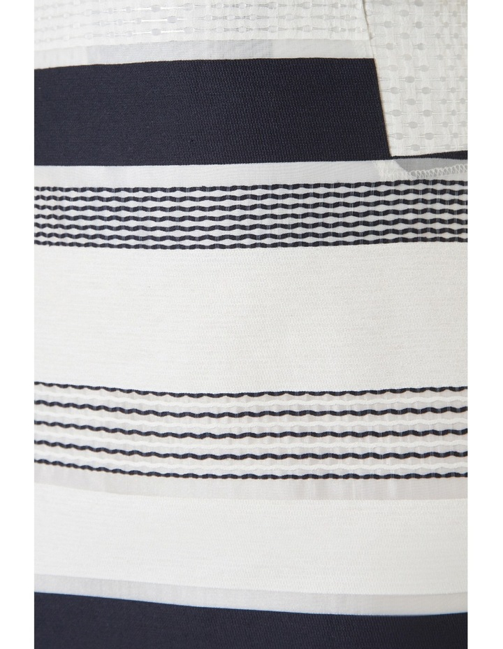 Stripe Jacquard A-Line Skirt image 4