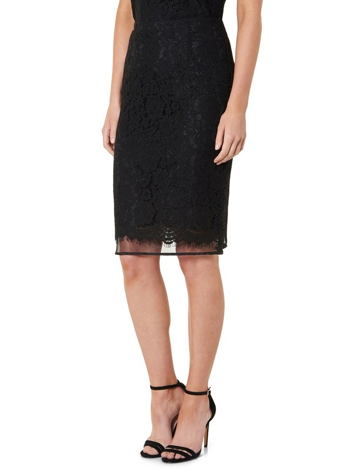 Octavia Double Layer Lace Pencil Skirt image 2