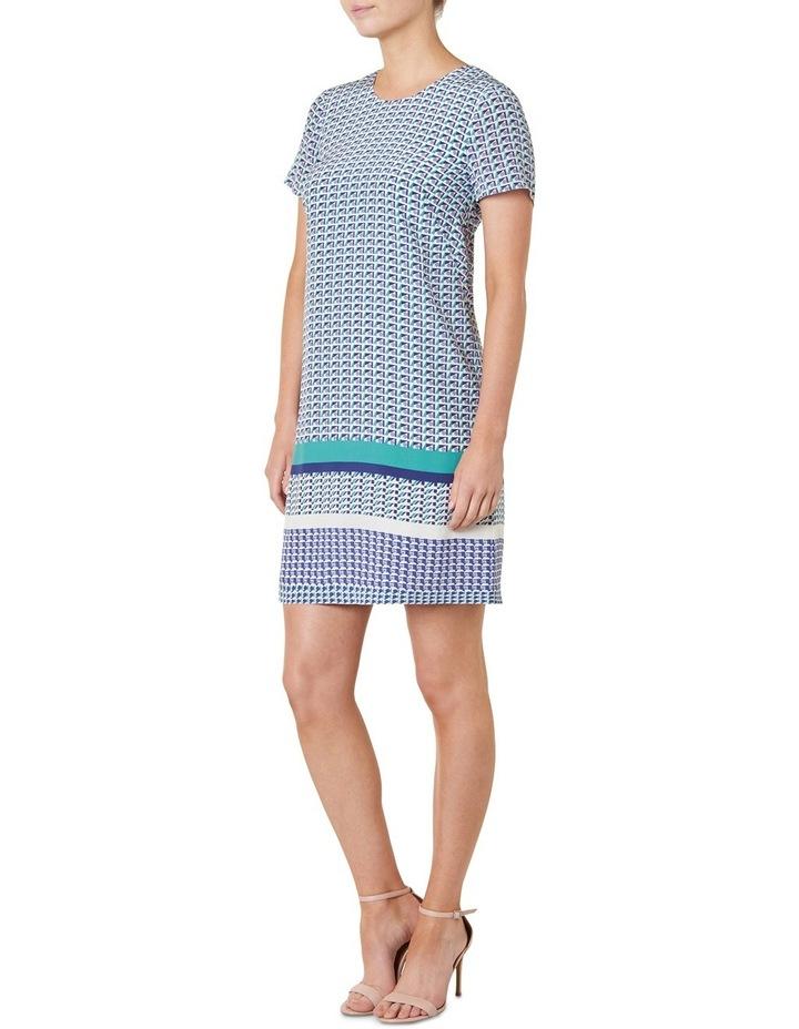 Geo Printed Silk Shift Dress image 2