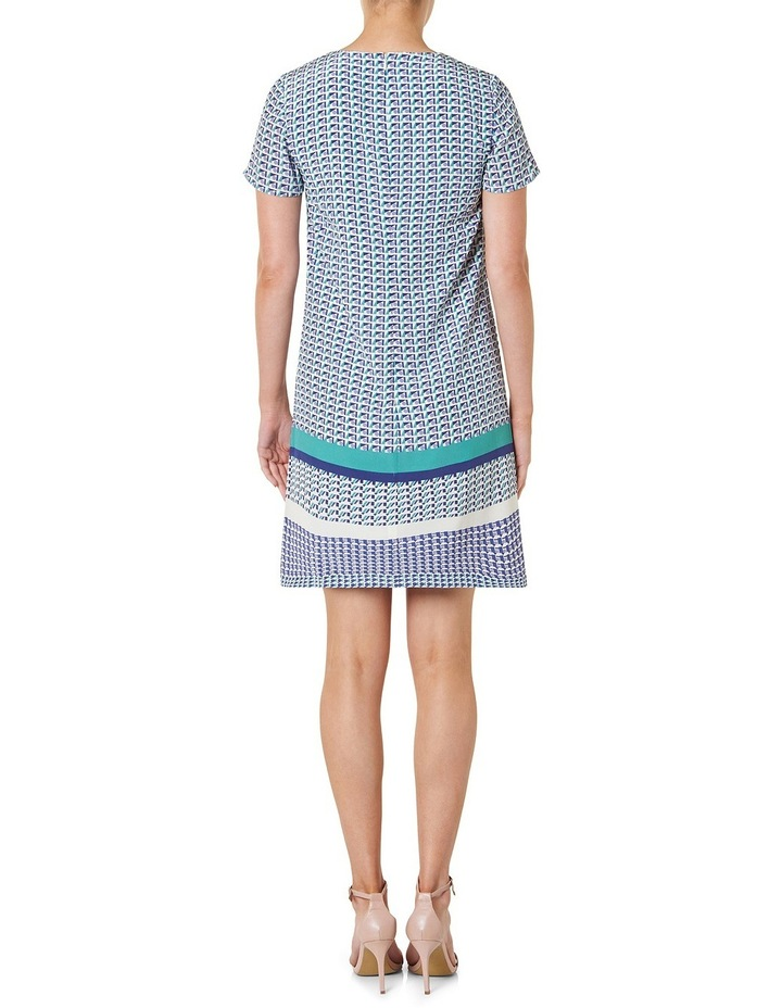 Geo Printed Silk Shift Dress image 3