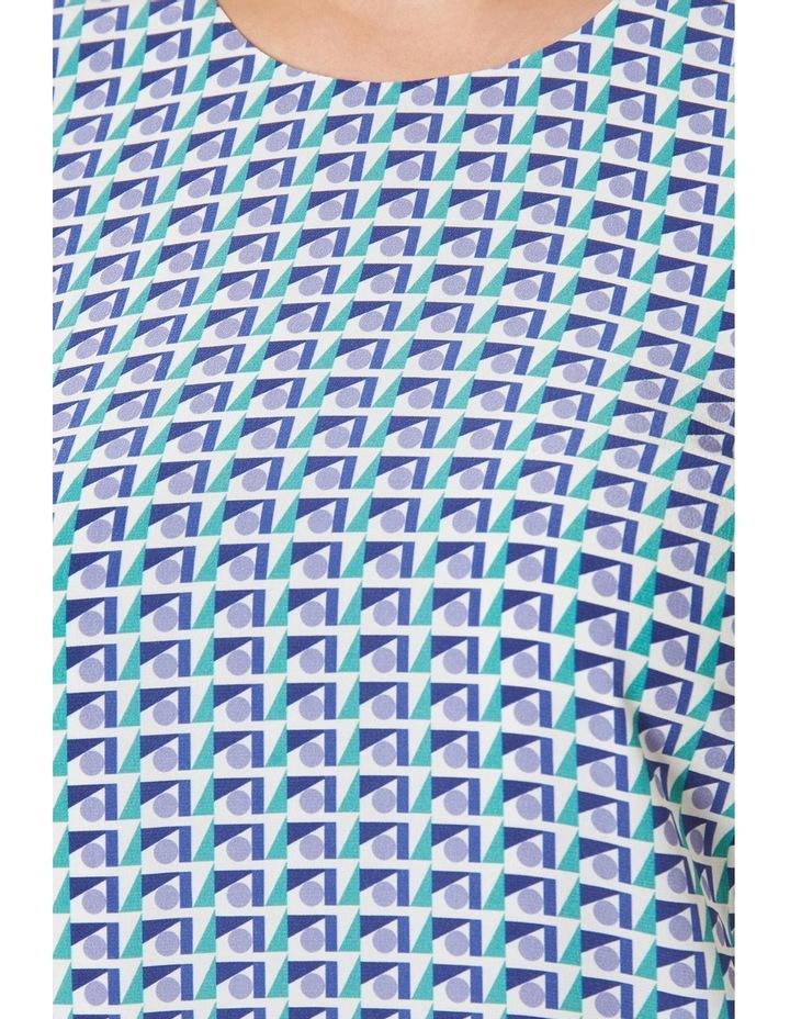 Geo Printed Silk Shift Dress image 4