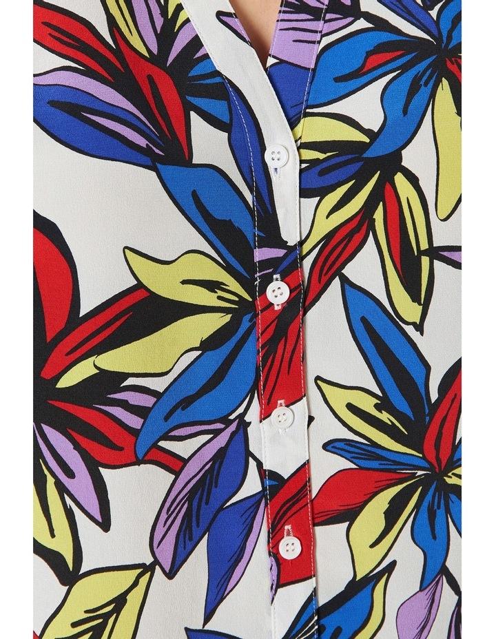 Marina Floral Sleeveless Silk Top image 4