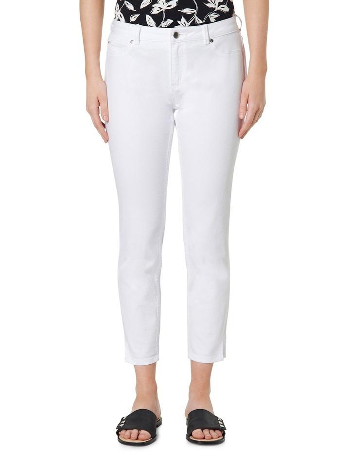 7/8th White Skinny Jean image 1