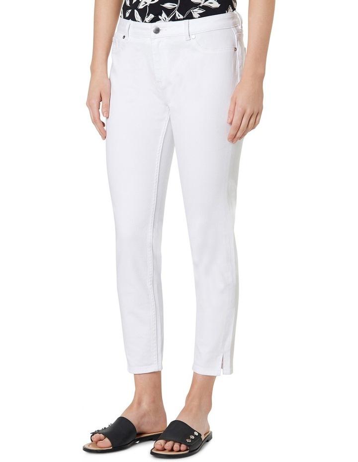 7/8th White Skinny Jean image 2