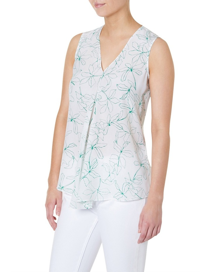 Grace Floral Print Ruffle Top image 2