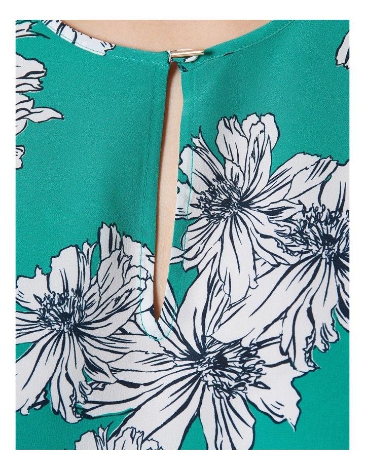 Greta Floral Print Fluted Sleeve Top image 4