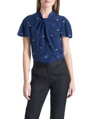 Damsel Embroidered Silk Blouse