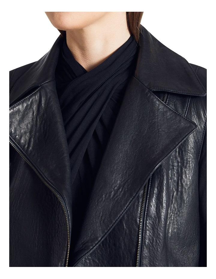 Lottie Leather Biker Jacket image 3