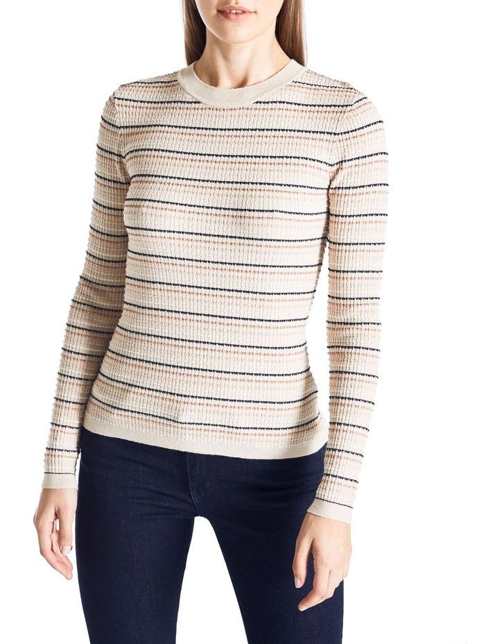Lurex Rib Stripe Knit image 1