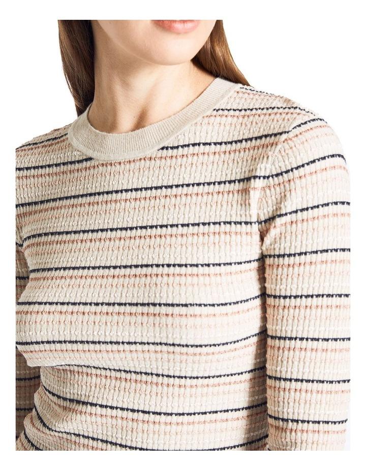 Lurex Rib Stripe Knit image 3