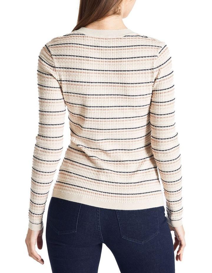 Lurex Rib Stripe Knit image 4