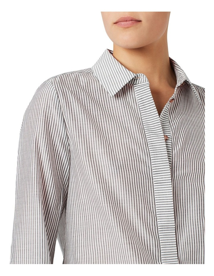 Stripe Silk Cotton Shirt image 4