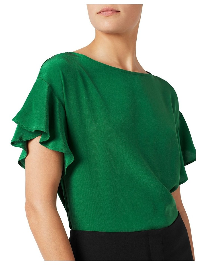 Ruffle Sleeve Silk Mix Top image 4