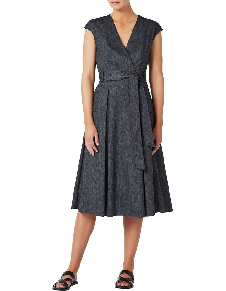 Fit And Flare Linen Dress image 1