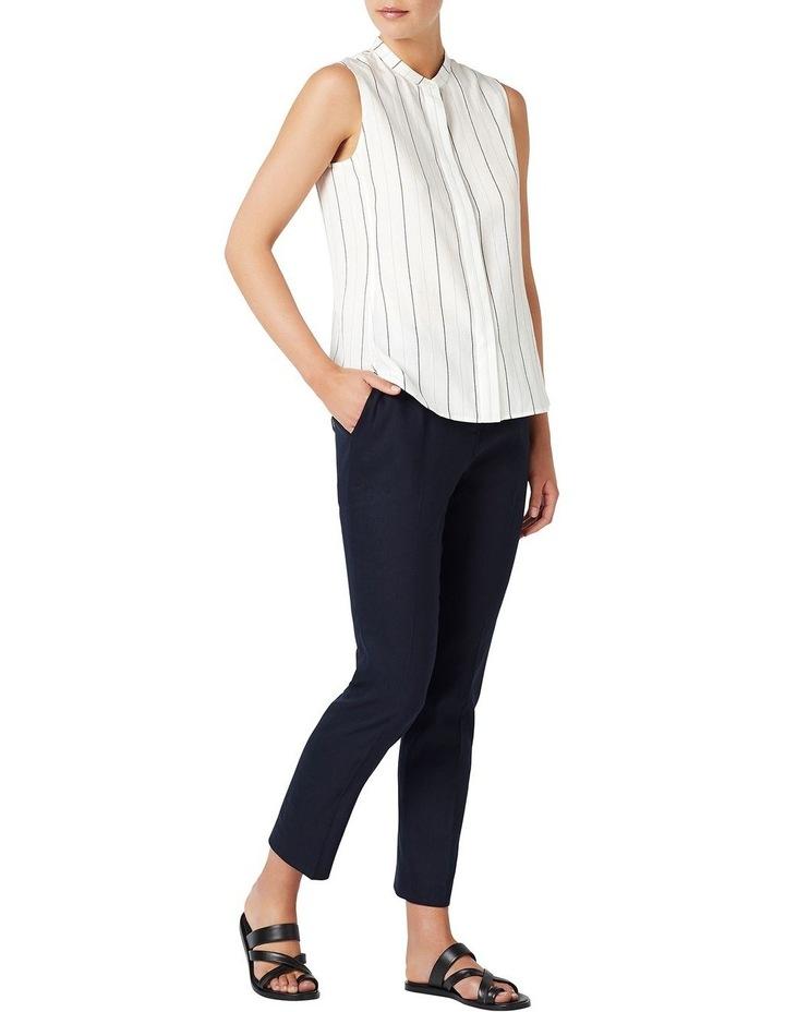 Stripe Sleeveless Linen Shirt image 2
