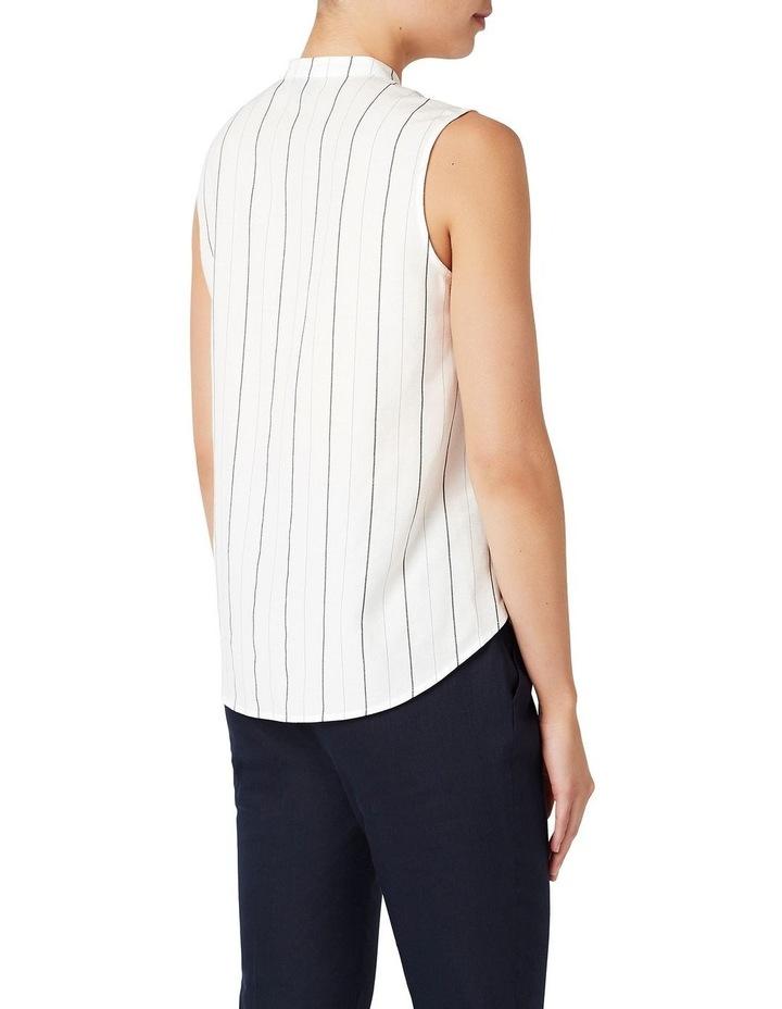 Stripe Sleeveless Linen Shirt image 3