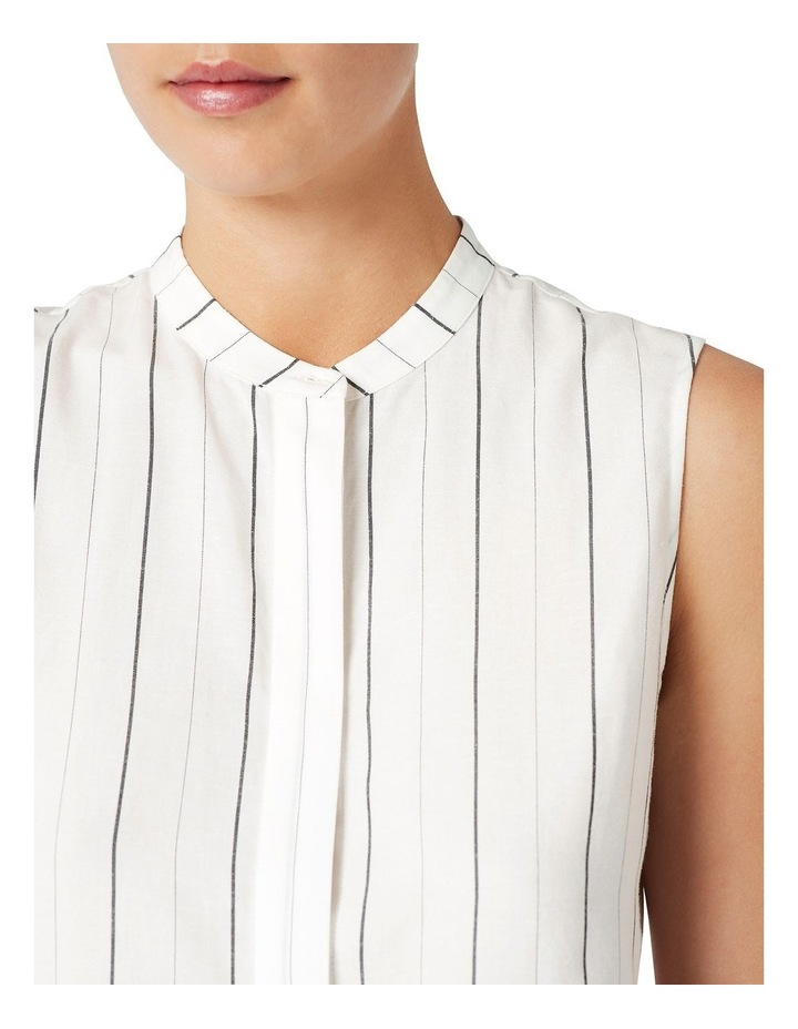 Stripe Sleeveless Linen Shirt image 4