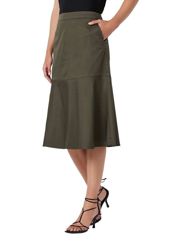 A Line Cotton Skirt image 1