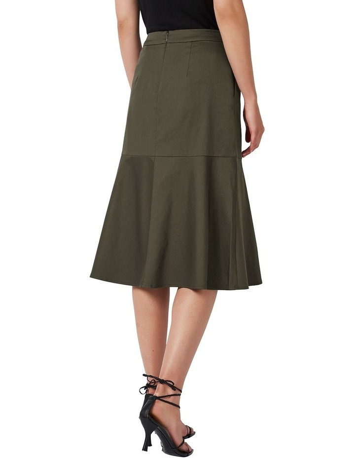 A Line Cotton Skirt image 3