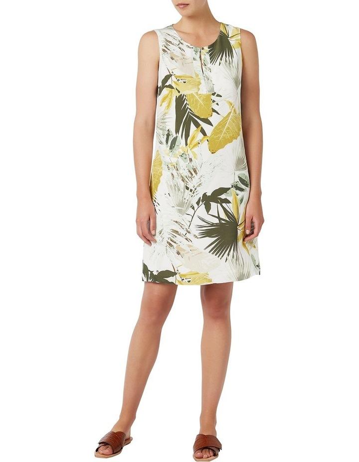 Palm Silk Shift Dress image 1