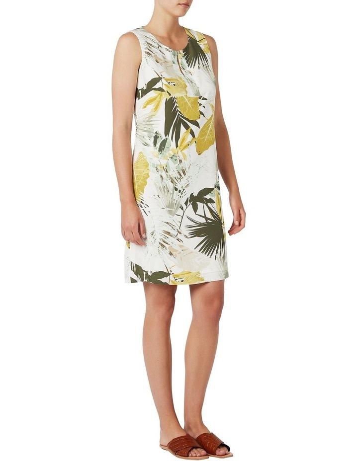 Palm Silk Shift Dress image 2