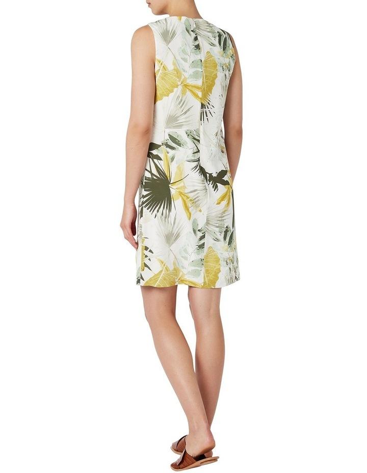 Palm Silk Shift Dress image 3