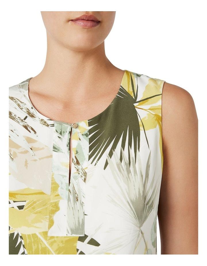 Palm Silk Shift Dress image 4
