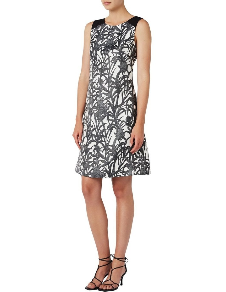 Sleeveless Palm Jacquard Dress image 1