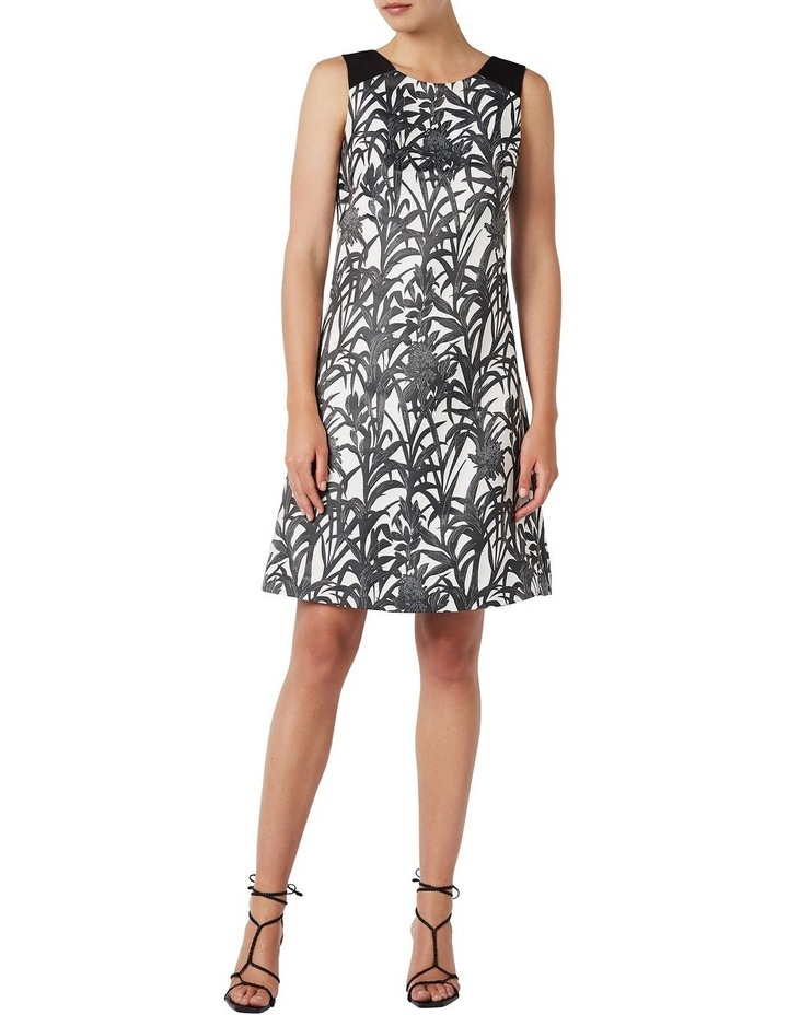 Sleeveless Palm Jacquard Dress image 2