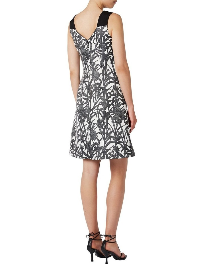 Sleeveless Palm Jacquard Dress image 3