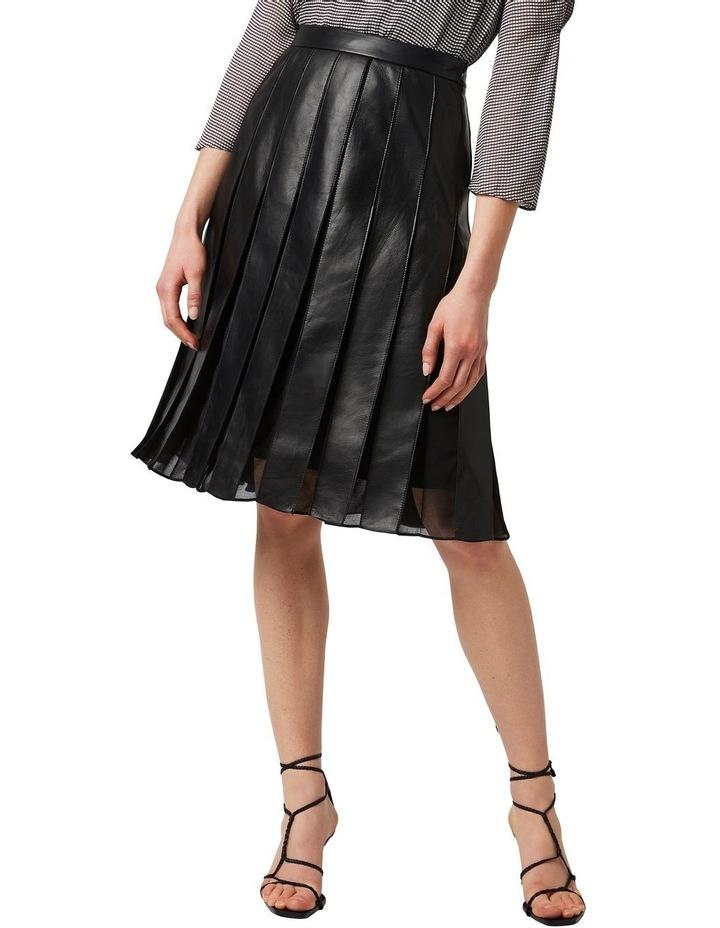 Aria Pleated Leather Skirt image 1