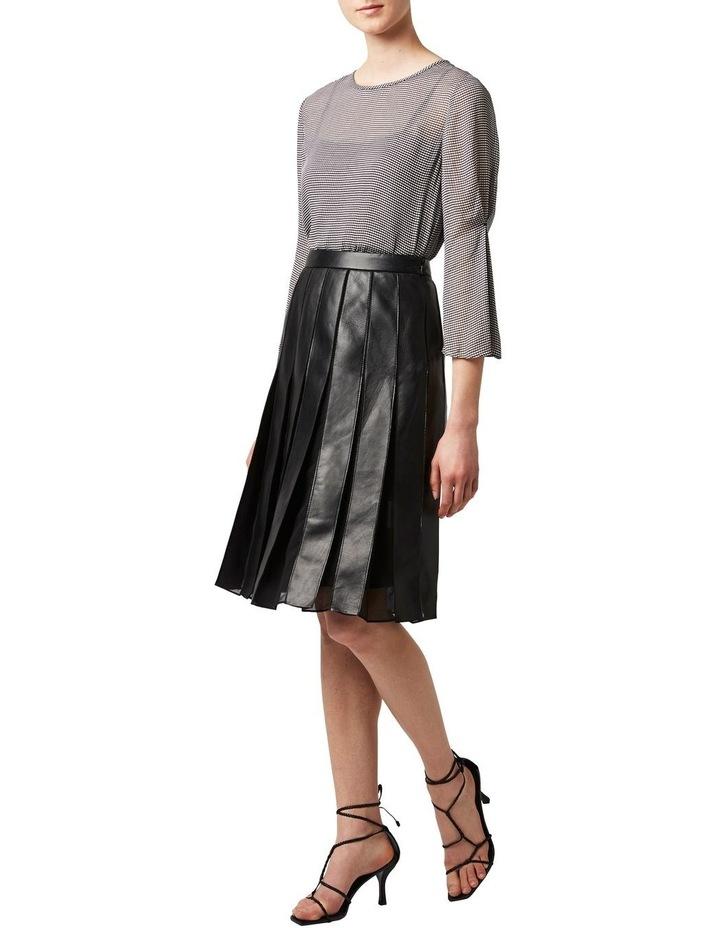 Aria Pleated Leather Skirt image 2