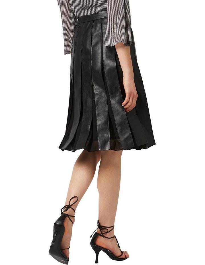 Aria Pleated Leather Skirt image 3