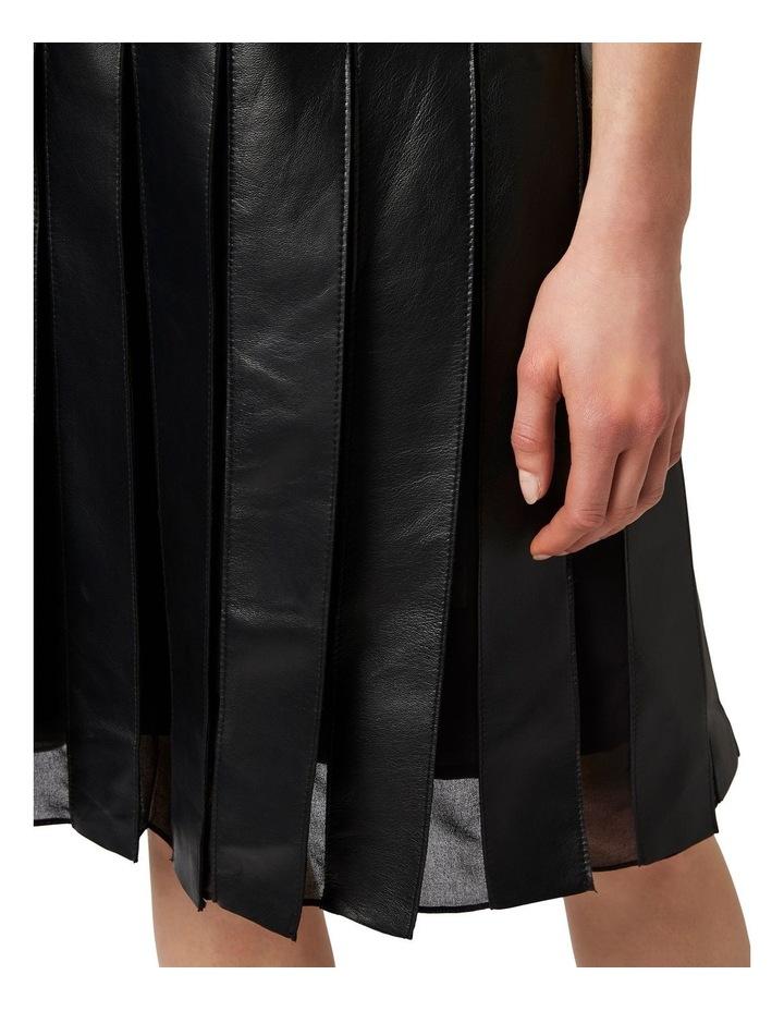Aria Pleated Leather Skirt image 4