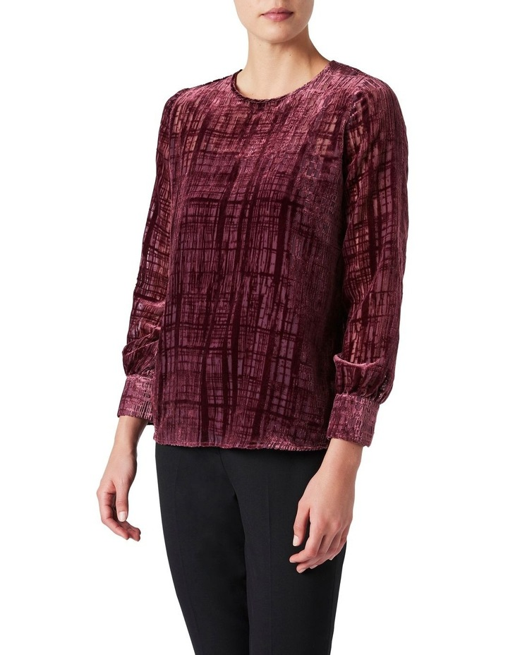 Burnout Check Blouse image 1