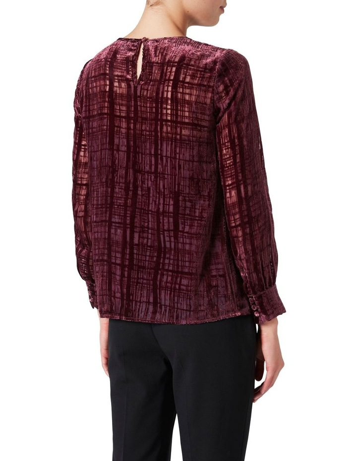 Burnout Check Blouse image 3