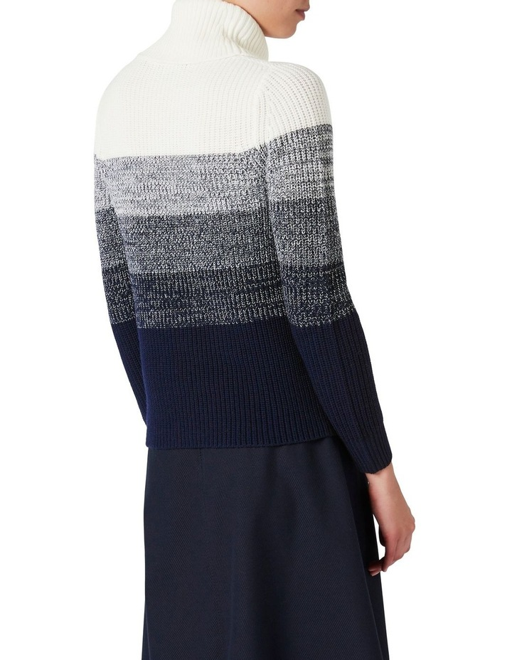 Ombre Roll Neck Knit image 3