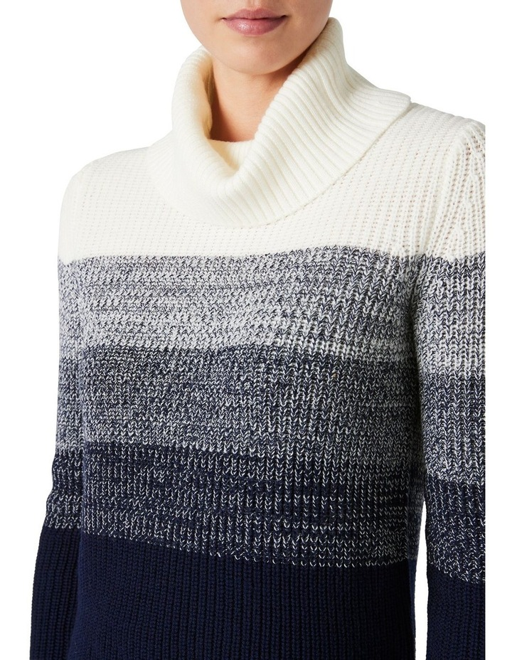 Ombre Roll Neck Knit image 4