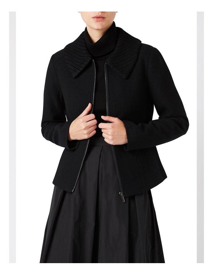 Rib Collar Felted Wool Jacket image 1
