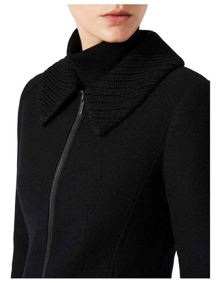Rib Collar Felted Wool Jacket image 4