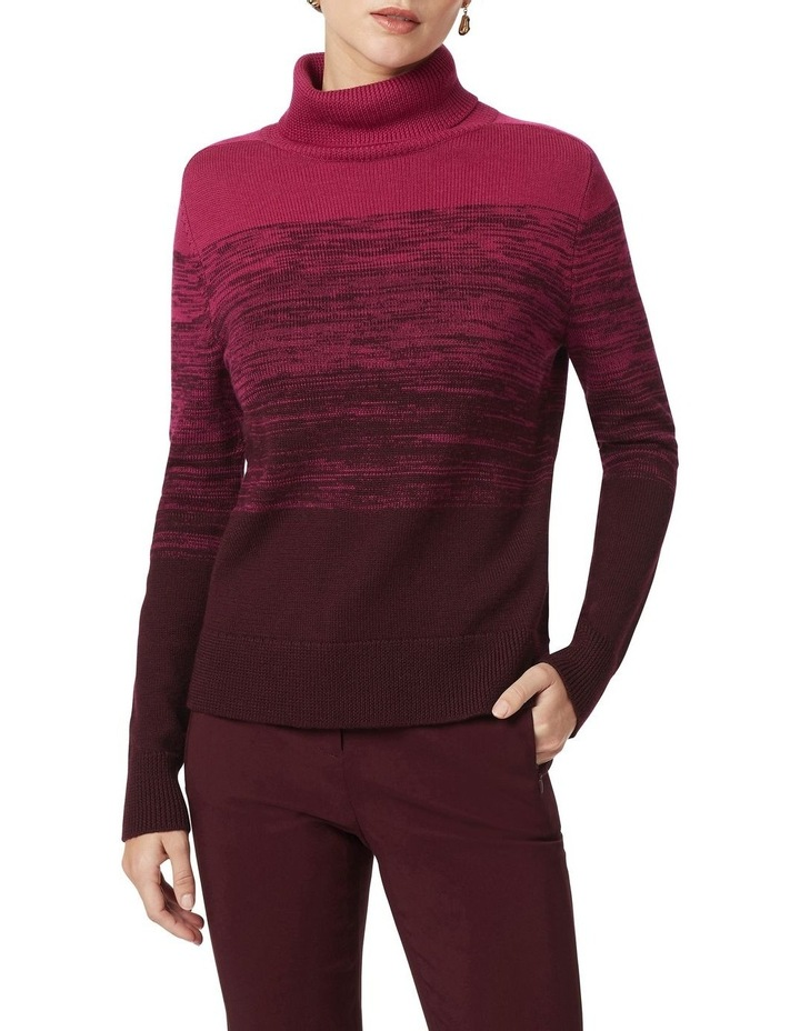 Ombre Roll Neck Knit image 1