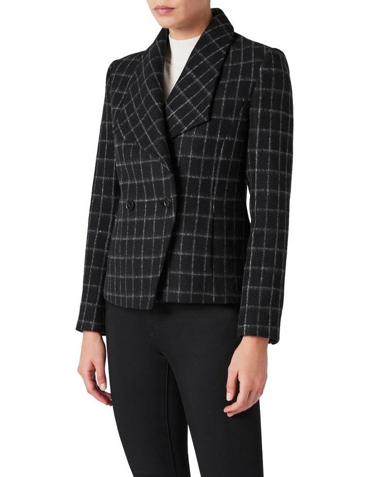 Avelin Check Felted Wool Jacket image 1