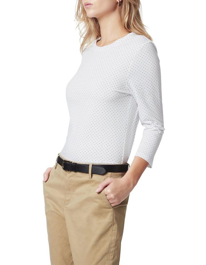 3/4 Sleeve Spot Cotton Tee image 1