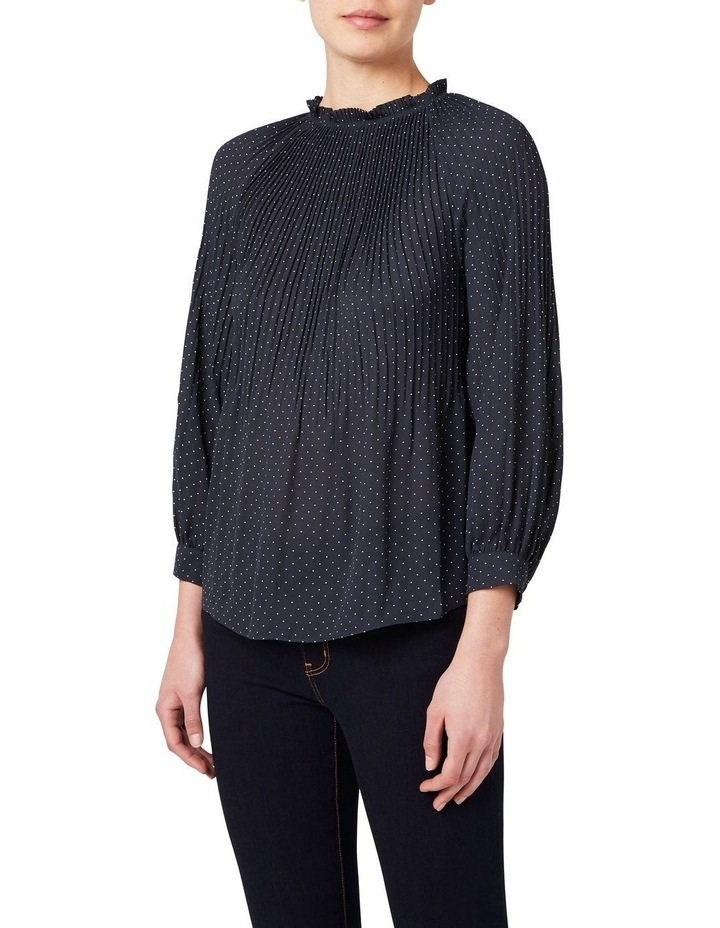 Pleated Spot Blouse image 1