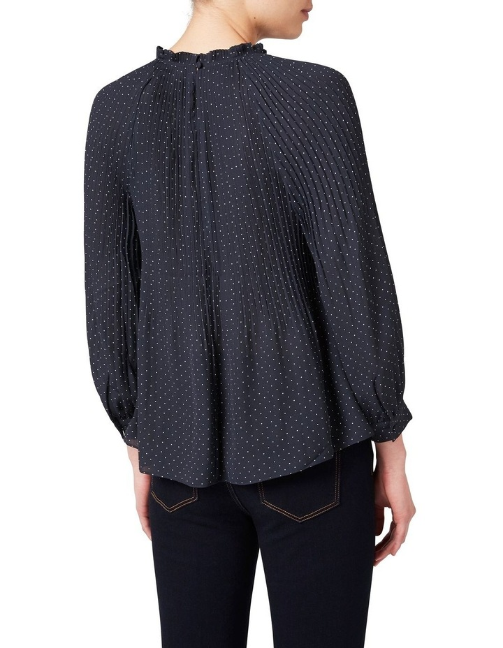 Pleated Spot Blouse image 3