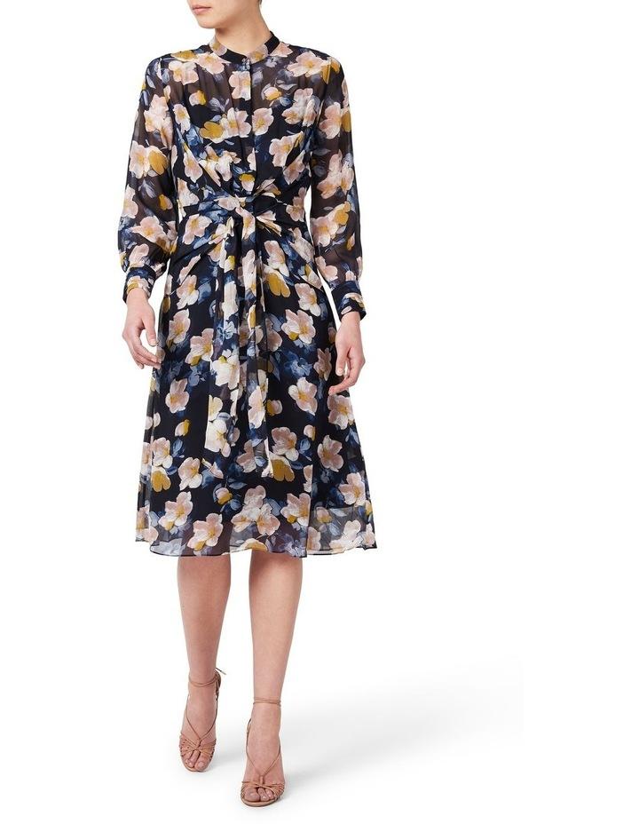 Keiko Tie Front Silk Dress image 1