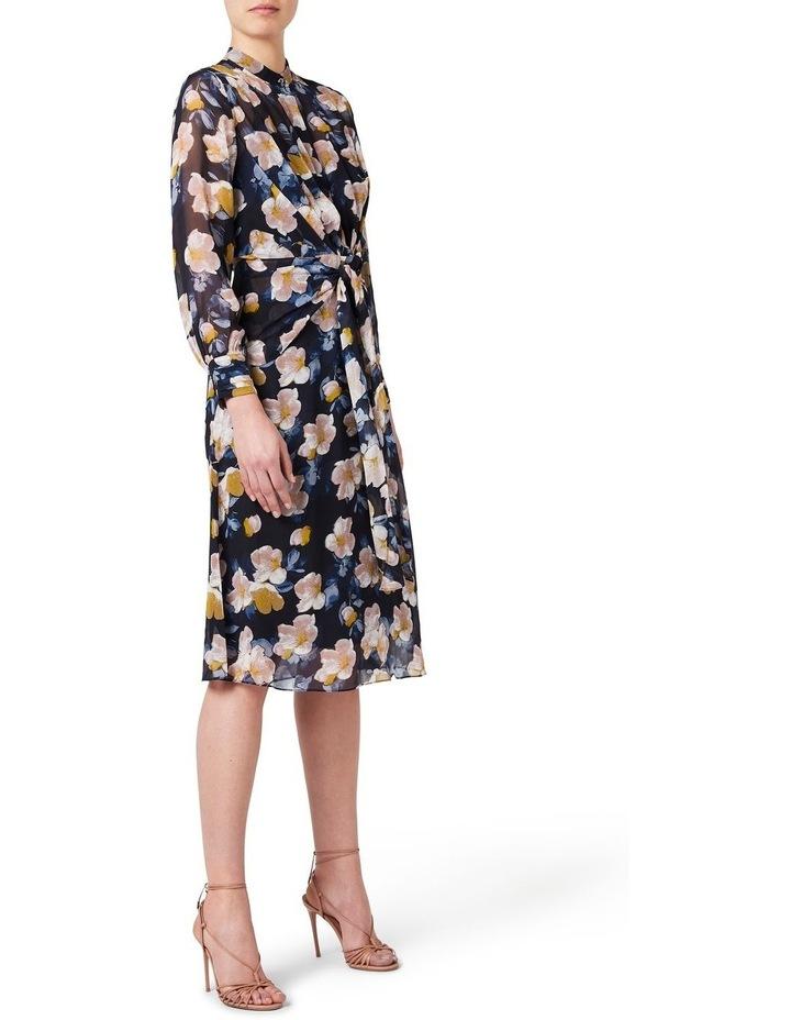 Keiko Tie Front Silk Dress image 2